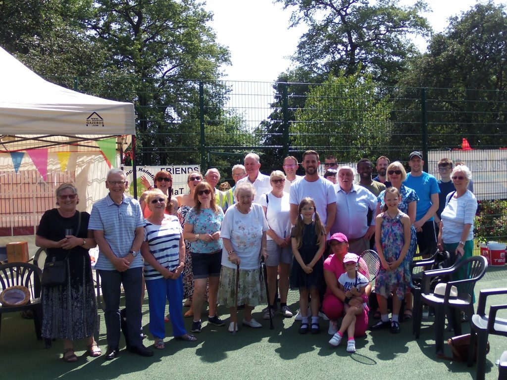 Friends of CHaT Parks, supporters and councillors at the opening