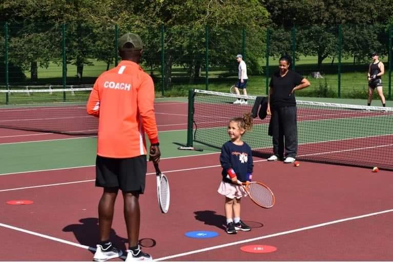 Tennis session at Thornes Park